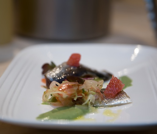 Citrus-Cured Sardines with Grapefruit and Fennel