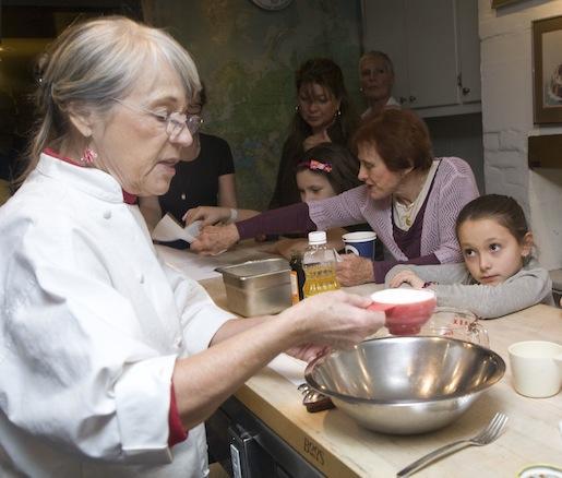 Joanne Lamb Hayes making gingerbread