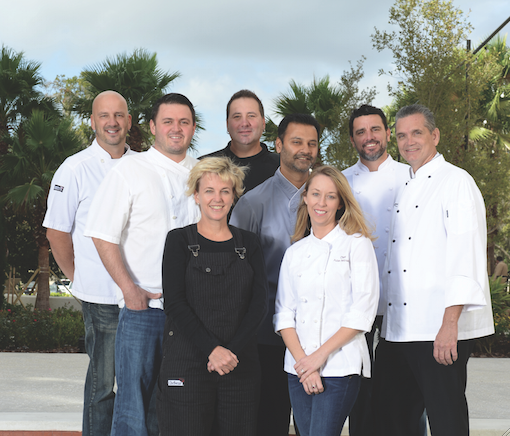 From left to right: Kevin Fonzo, James Petrakis, Kathleen Blake, Henry Salgado, Hari Pulapaka, Julie Petrakis, Brandon McGlamery, and Scott Hunnel