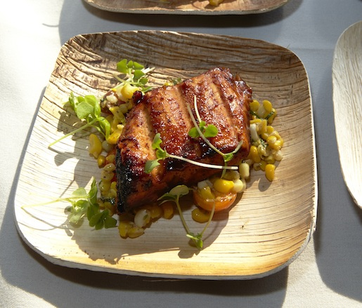Skuna Bay Salmon with Corn, Tomatoes, and Housemade Bacon by James Beard Award Winner Dan Kluger (ABC Kitchen, ABC Cocina)