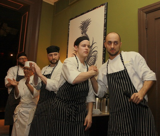 Chef Patrick Soucy and his team at the Beard House