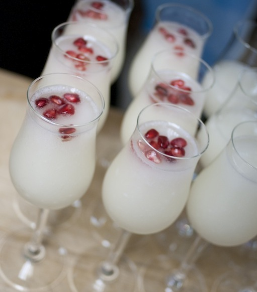 Sorbetto al Limone con Melograno > Lemon and Grey Goose Vodka Sorbet with Pomegranate Seeds