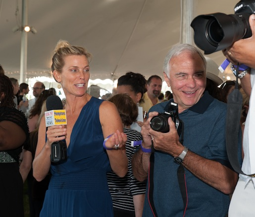 The WVVH-TV Hamptons television crew covering Chefs & Champagne®