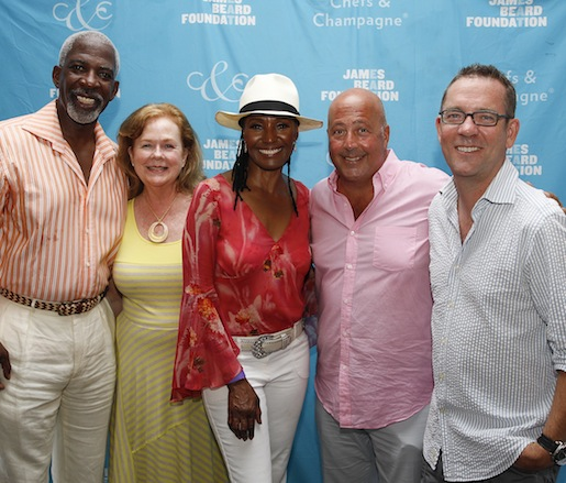 Foundation President Susan Ungaro, B.Smith, James Beard Award Winner Andrew Zimmern, and Ted Allen