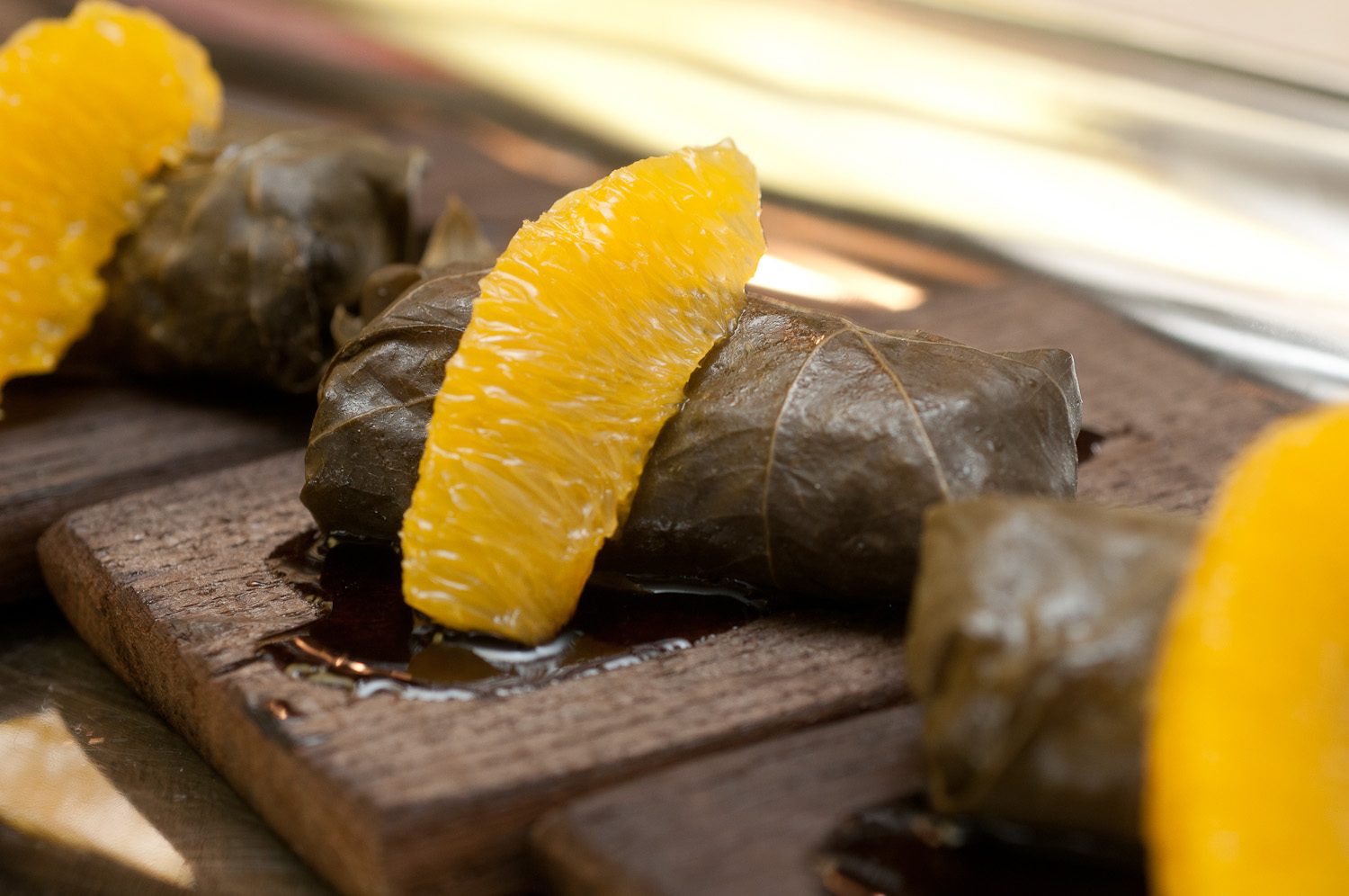 Fox Hollow Farm Biodynamic Beef–Stuffed Grape Leaves