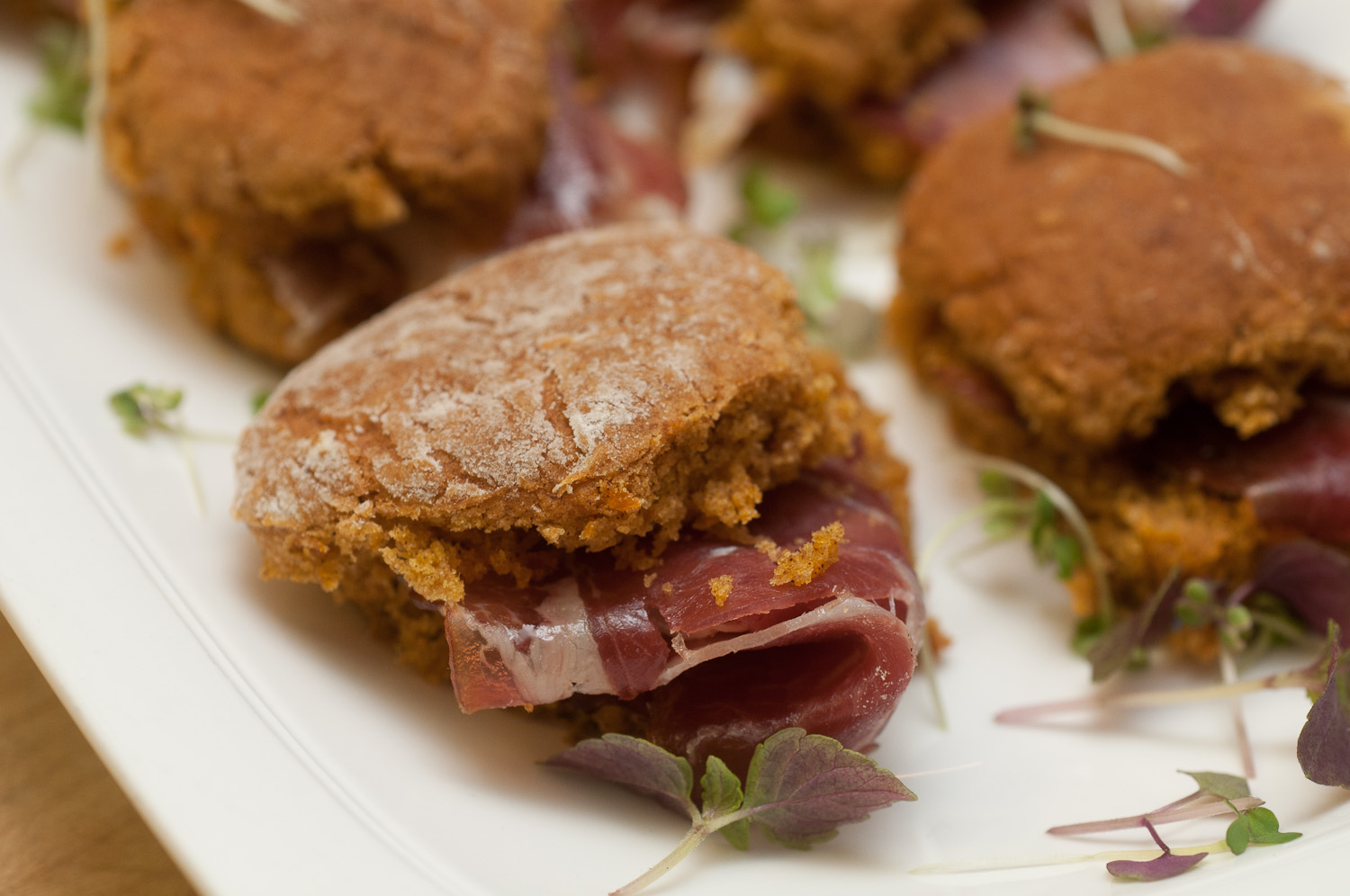 Farmland House-Cured Ham with Sweet Potato Biscuits and Kentucky Honey