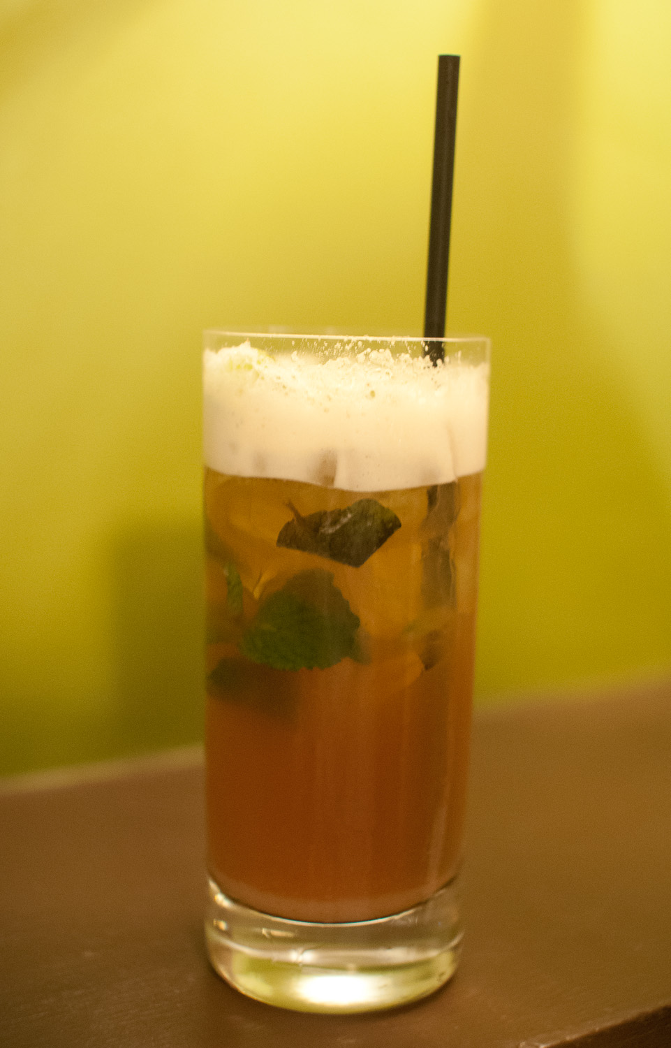 Triple Crown Mint Julep with Four Roses and Wild Boar-Infused Root Beer