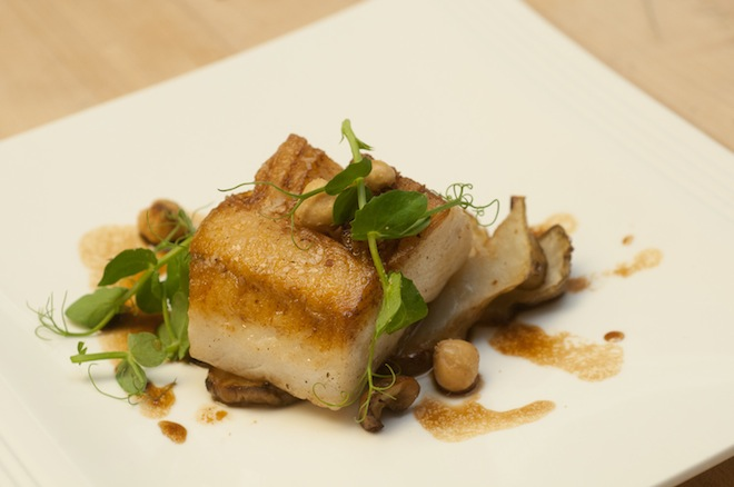 Pan-Roasted Black Cod with Sunchokes