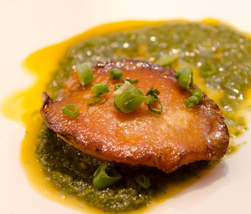 Santa Barbara Abalone with Salsa Verde and I'itoi Onions