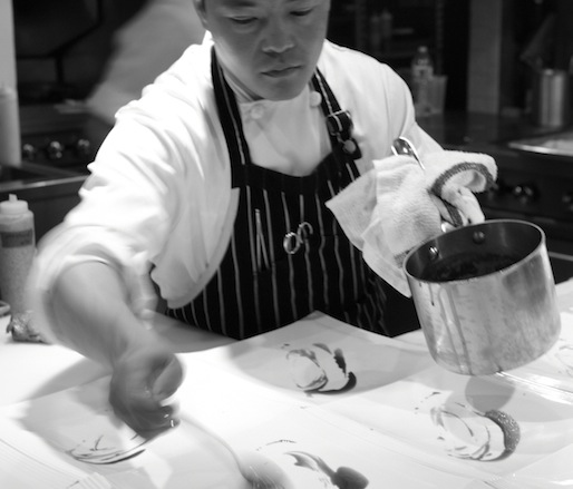 Edward Kim plating at the Beard House