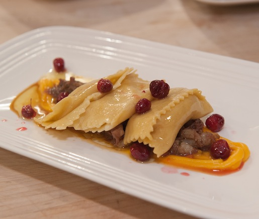 Jerusalem Artichoke Agnolotti with Braised Venison