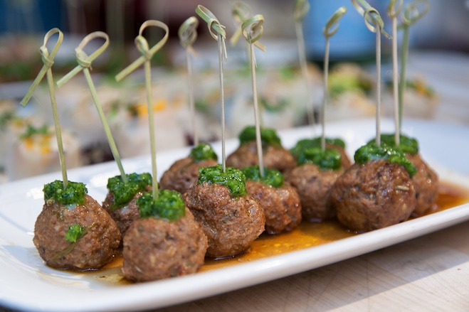 Farm Lamb Albóndigas with Mint Chimichurri