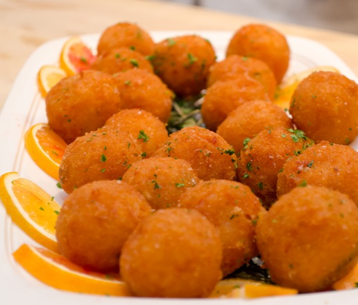 Arancini > Fried Risotto Dumplings with Four Cheeses and Saffron