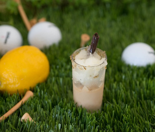 Arnold Palmer Mousse with Meyer Lemon Granita by Zac Young (David Burke Kitchen)