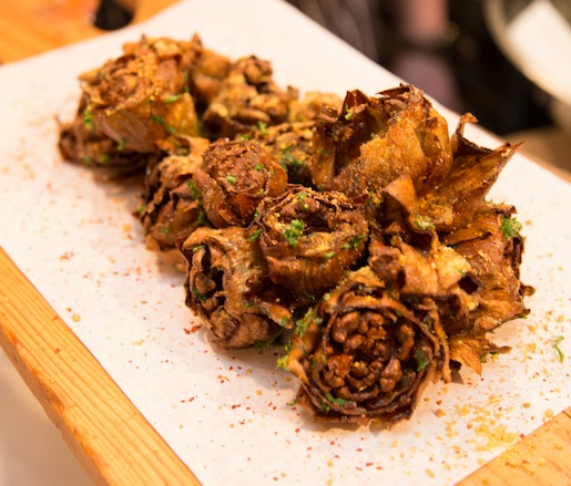 Crispy Artichokes with Parsley and Lemon Powder
