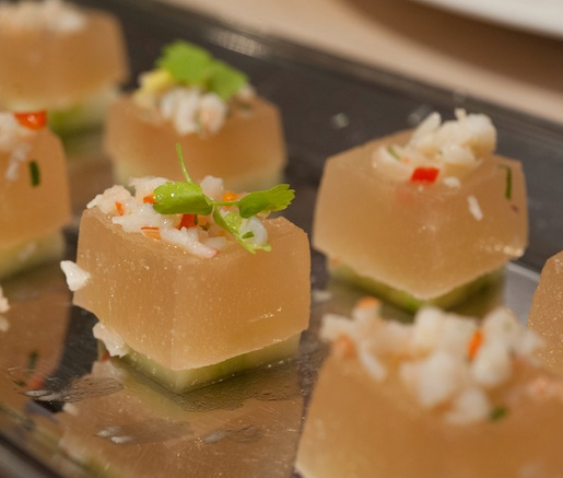 Pickled Shrimp with Tomato Aspic and Celery
