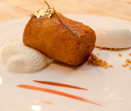 Baba au Rum with Brioche Punch, Crème Madame, and Saint James Rum