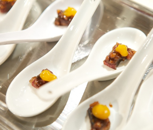 Lamb Bacon Praline with Rosemary and Butternut Squash Jam