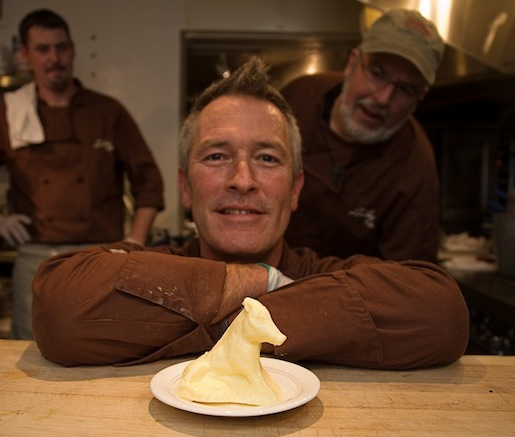 Chef Bart Pickens with butter for Loveless Cafe Biscuits