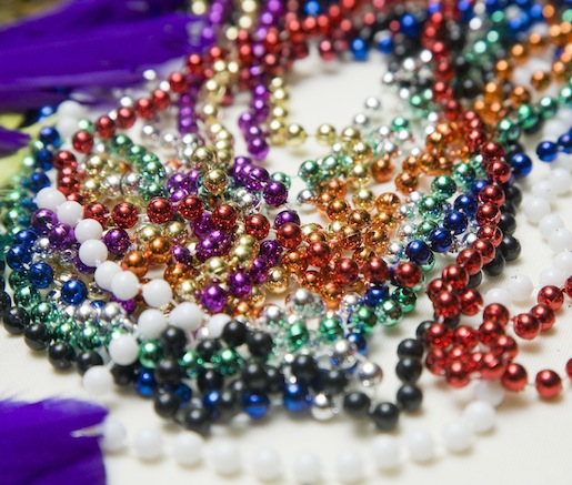 Beads for Mardi Gras at the Beard House