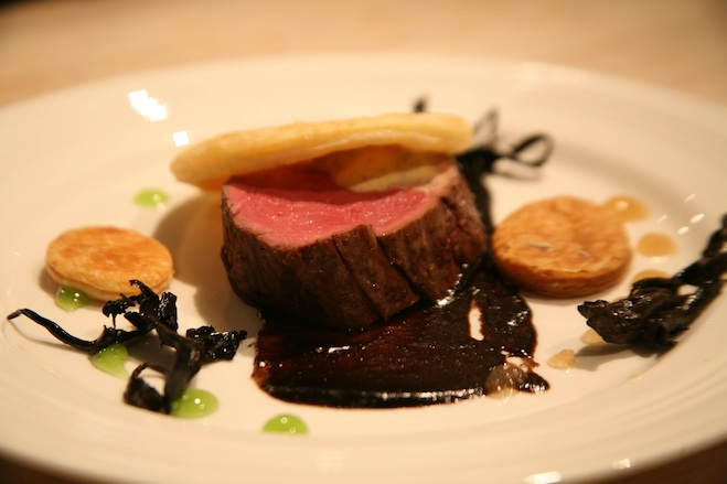 England > Beef Wellington with Foie Gras Custard and Piedmont Truffles