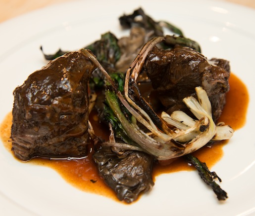 Rioja Wine–Braised Teton Waters Ranch Beef Cheeks with Wild Mushrooms