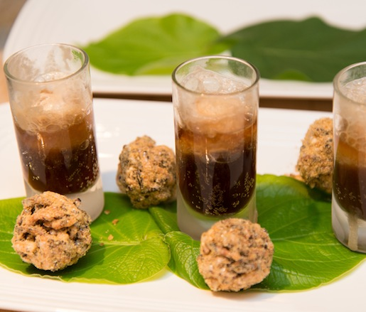 Petits Fours > Miniature Vernon Birch Beer Floats with Sassafras Ice Cream
