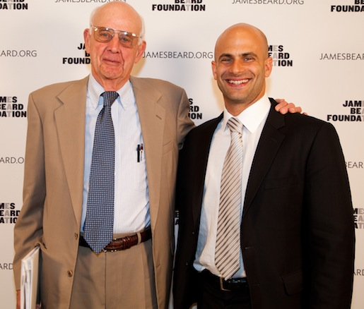 JBF Leadership Award winner Wendell Berry and White House chef and senior policy advisor Sam Kass