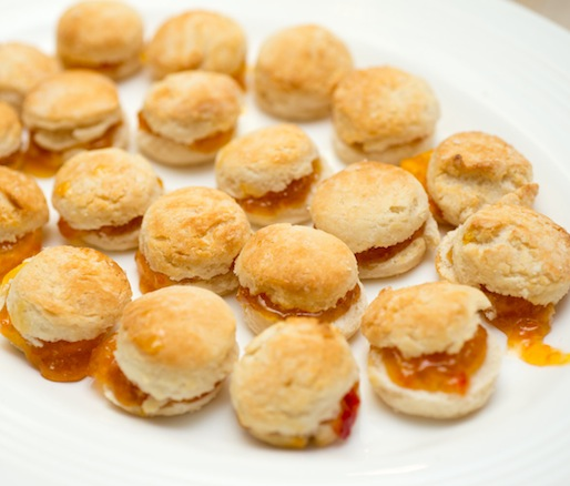 Miniature Biscuits with Pepper Jelly