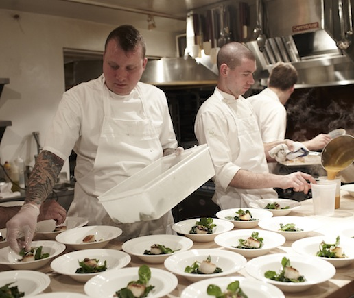 Walker Stern and Joseph Ogrodnek at the James Beard House