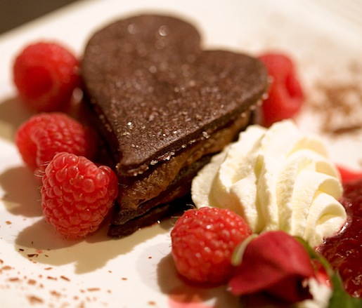 Chocolate–Raspberry Short Stacks