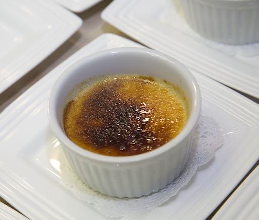 Sweet Corn Brûlée with Thyme Ice Cream