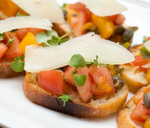 Tomato–Caper Bruschetta