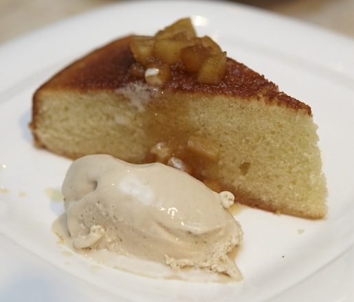 Olive Oil Cake with Roasted Apple Caramel