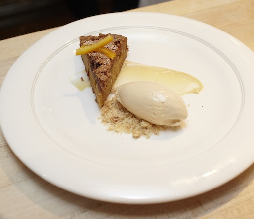 Parsnip Cake with Maple and Coffee–Bourbon Ice Cream