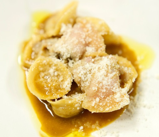 Cappelletti> Sweetbreads, Smoked Oysters, and Clams