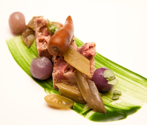 Cardoons à la Barigoule with Head Cheese and Mustard