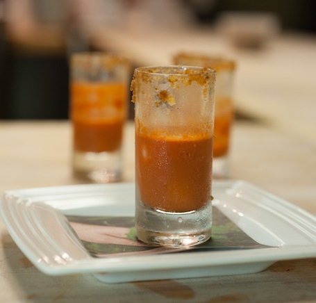 Carrot Cake Soda with Creole Cream Cheese Ice Cube
