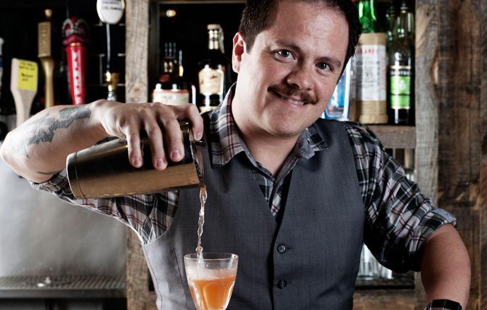 Bartender Erick Castro