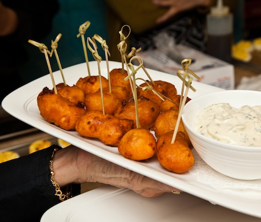 Caesar Cocktail– Battered Cheese Curds with Buttermilk Ranch