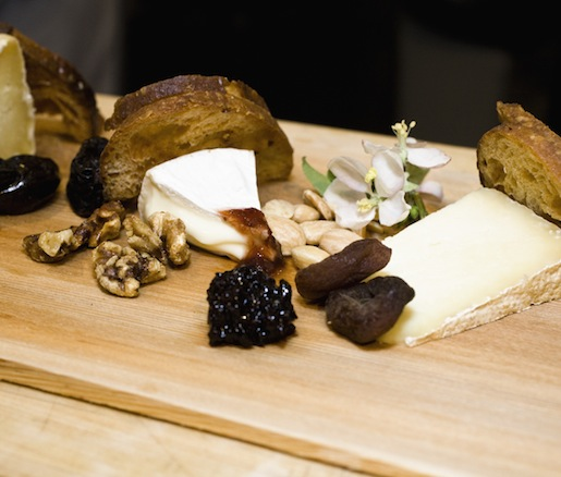 Maine Cheese Trio with Toast, Preserves, Honey, Nuts, and Fruit