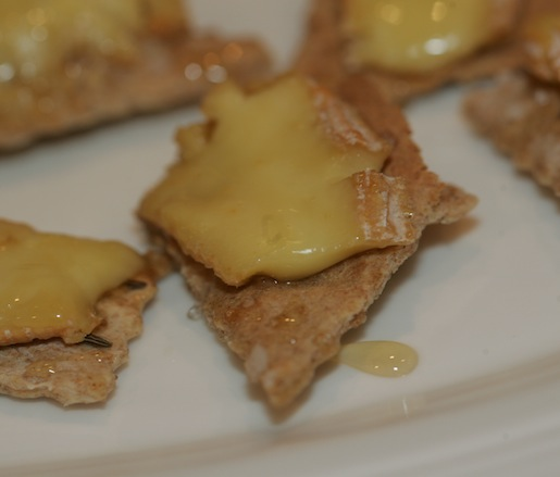 Anton's Red Love Cheese on Caraway Seed Crackers