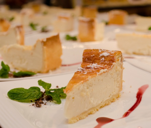 Ricotta di Bufala Cheesecake with Shaved Chocolate