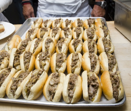 South Philly Cheesesteaks with Caramelized Onions and American Cheese
