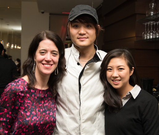 Chef David Shim with guests at Kristalbelli