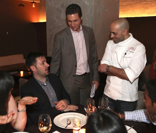 Chef Marco Porceddu with guests