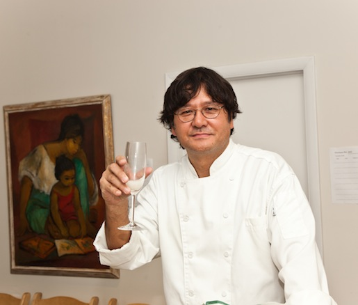 Chef Tadashi Ono toasts to a successful evening