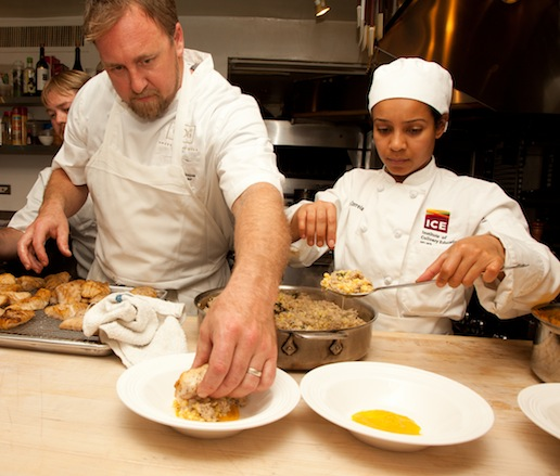 Patrick Owens in the James Beard House kitchen