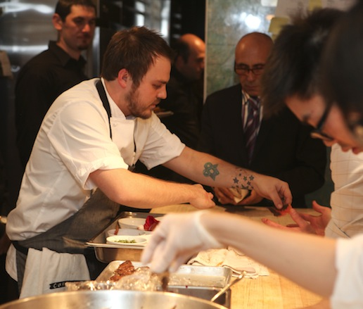Brandon Frohne at the James Beard House