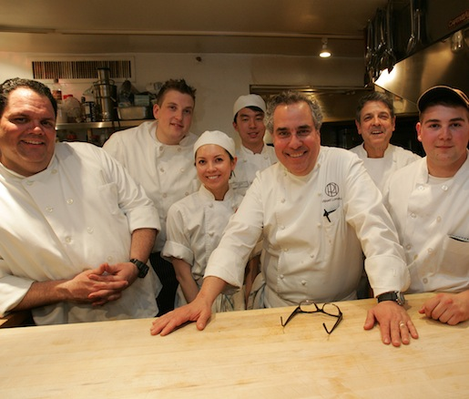 Michael Lomonaco and Michael Ammirati with their teams at the Beard House